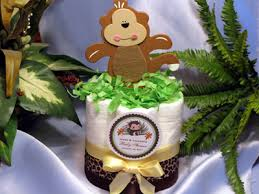 monkey centerpieces for baby shower lmk gifts baby shower monkey cake centerpiece