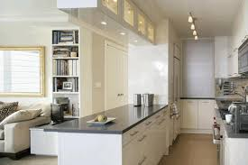 Galley Style Kitchen Floor Plans Galley Style Kitchen Plans Metal Pot Rack Modern Bulb Pendant