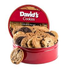 gift cookies david s cookies assorted fresh baked cookies 2 lb tin