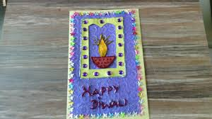 diwali greeting card project for kids youtube
