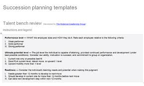succession planning templates download toolkit