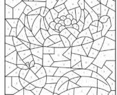 coloring pages creative haven floral design color by number