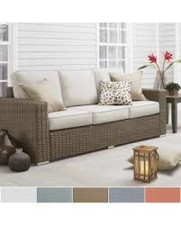 spectacular deal on barbados wicker outdoor cushioned brown mocha