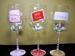 wine glass birthday wine glass design ideas