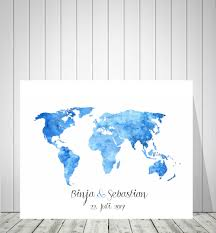 World Map Push Pin Board by Wedding World Map Sign Guest Book Bride And Groom Gift Wedding