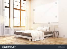 corner master bedroom bed two bedside stock illustration 557026417