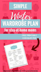 winter wardrobe plan 130 for stay at home moms