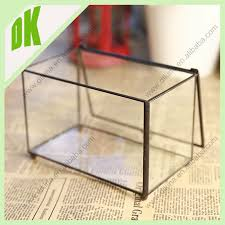 Clear Glass Square Vase Clear Glass Tall Rectangular Cube Bouquet Flower Bunch Vases Fruit