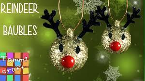 diy tree reindeer decoration