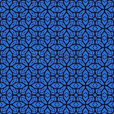 deco wrapping paper vector geometric deco pattern with lacing shapes in indigo