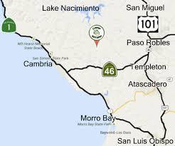 Map Of Cambria Ca Location Camp Natoma