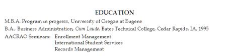 listing education on resume examples listing education on resume