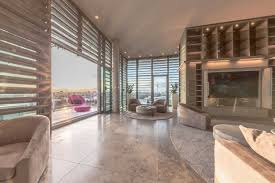 modern open plan architecture with floor to ceiling windows