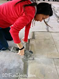 How Much To Concrete Backyard Gorgeous Diy Stamped Concrete Tile Driveway For Less Much Less