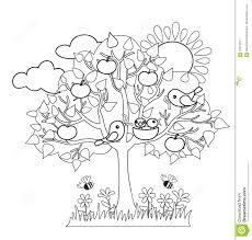 spring tree birds build nests seasonal signs of spring stock