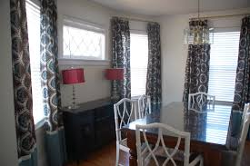 chic table lamps beside window plus amusing dining room curtains