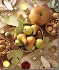 a thanksgiving color scheme linen and soft maize and green