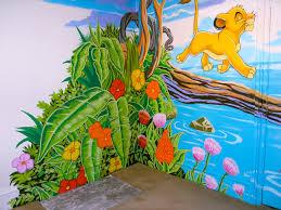 lion king mural sacredart murals corner foliage of the lion king mural