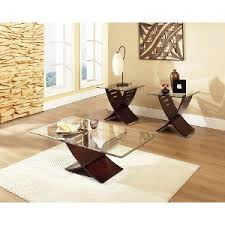 Coffee Table Set Espresso Brown Glass 3 Coffee Table Set Rc Willey