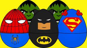 for kids superheros eggs for kids trucks for children kids