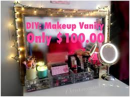 diy makeup vanity youtube