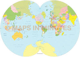 World Political Map by Vector World Political Map In The August Epicycloidal Projection