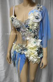 moon goddess fairy monokini bra cosplay dance costume rave bra