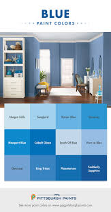 Blue Paint Colors For Bedrooms Blue Color Inspiration From Ppg Pittsburgh Paints Blue Paint