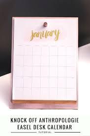 Small Easel Desk Calendar Anthropologie Easel Desk Calendar Knockoff Desk Calendars