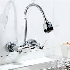 kitchen wall faucets xueqin 360 pipe swivel wall mount chrome pull kitchen sink