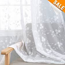 Embroidered Sheer Curtains Embroidered Sheer Curtains For Living Room Curtain Set