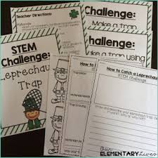 Challenge Directions St S Day Interactive Read Aloud Stem Challenge Our