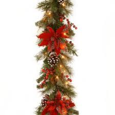 pre lit battery operated garland hayneedle