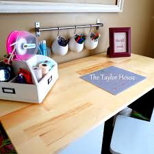Craft Table Craft Table With Storage Diy Storage Decorations