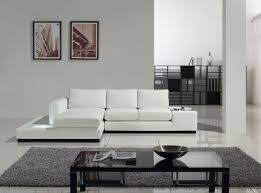 Modern White Leather Sectional Sofa by Tosh Furniture Modern White Compact Leather Sectional Sofa Flap