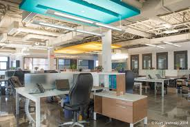 bureau open space projet adnm international office punch ceiling architectural