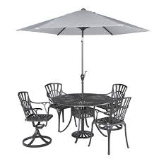 Patio Furniture Dining Sets With Umbrella - home styles largo 42 in 5 piece patio dining set with umbrella