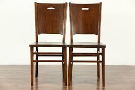 sold set of 6 arts u0026 crafts mission oak 1900 antique craftsman