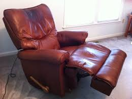 Leather Chair Modern Furniture Excellent Red Leather Recliner With Decorative Cushions