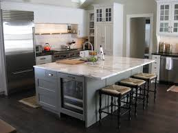 white marble kitchen island great kitchen with calcatta marble island and soapstone