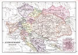 Bohemia Map Austro Hungarian Monarchy Map Lincoln Stamp Album 1899
