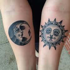 sun and moon ideas tattoos mob