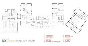 Dance Studio Floor Plans Gallery Of The Kensington Creative And Performing Arts High