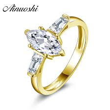 gold rings stones images Ainuoshi 10k solid yellow gold ring sona simulated diamond 3 jpg