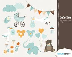 baby boy clipart baby shower u0026 birth announcement clip art