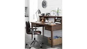 60 desk with hutch harrison cognac 60 desk with hutch crate and barrel