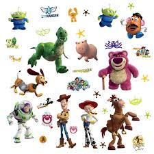 Popular Characters Murals Roommates Roommates Rmk1428scs Toy Story Peel Stick Wall Decals Glo In