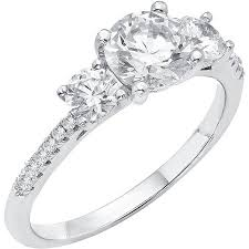 sterling silver engagement rings walmart 5 8 carat t g w australian and cz sterling silver