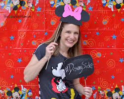 mickey mouse photo booth showing our disneyside mickey mouse party ideas free