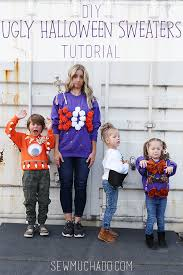 diy ugly halloween sweaters sew much ado